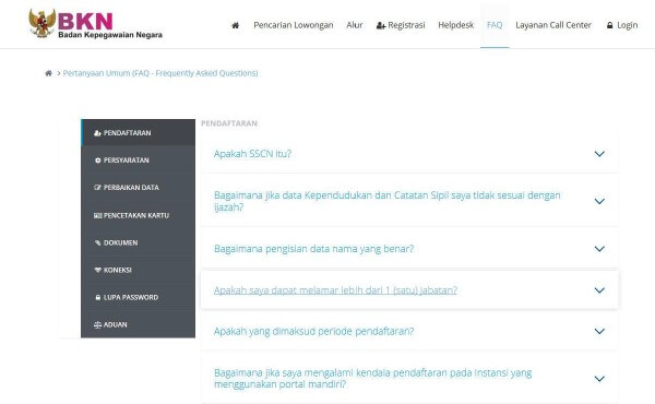 Petunjuk Lengkap Pendaftaran Sistem Seleksi CPNS Nasional ...